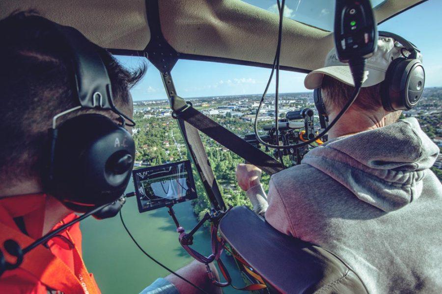kamerovanie z vrtuľníka